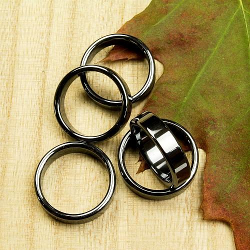 Hämatit Ring flach 6mm 100 Stück