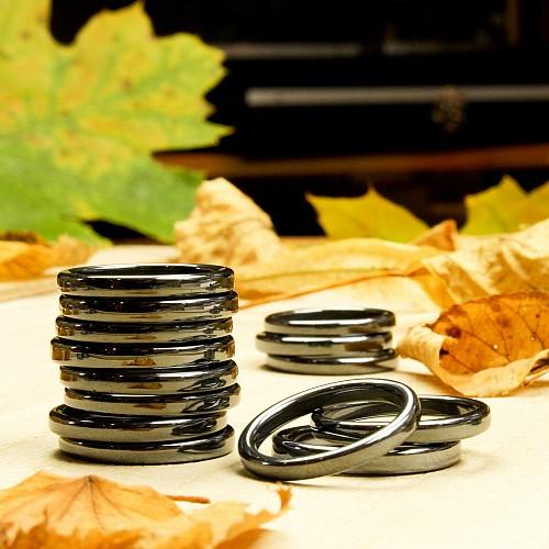 Hämatit Ring rund 3mm 100 Stück