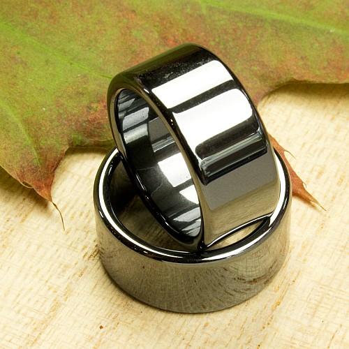 Hämatit Ring flach 10mm 100 Stück