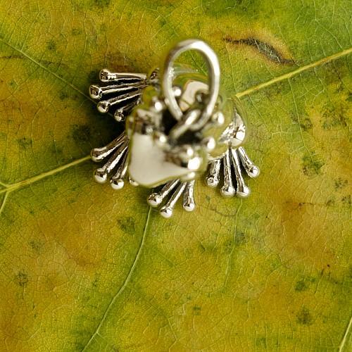 Frosch Anhänger Silber 925 Kettenanhänger Sterlingsilber Froschkönig su84