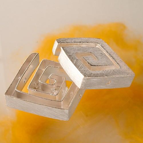 Silverbead Square Spiral Brushed 22 mm Sterlingsilver