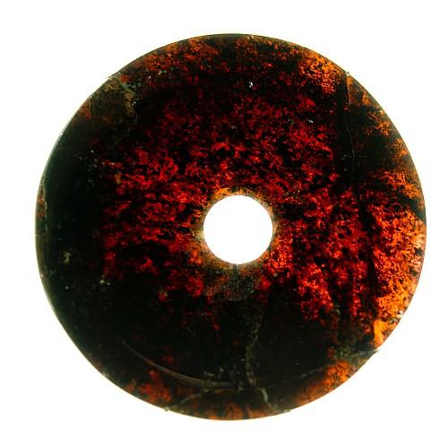 Granat Edelstein Anhanger Donut Scheibe 004