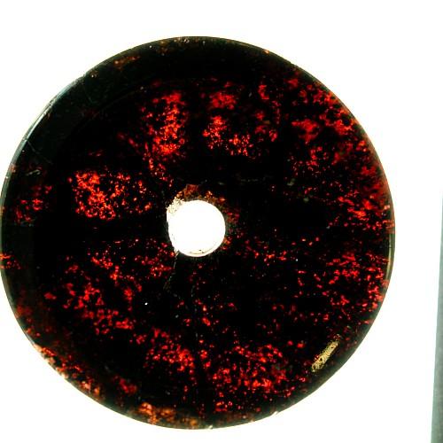Granat Edelstein Anhanger Donut Scheibe 001