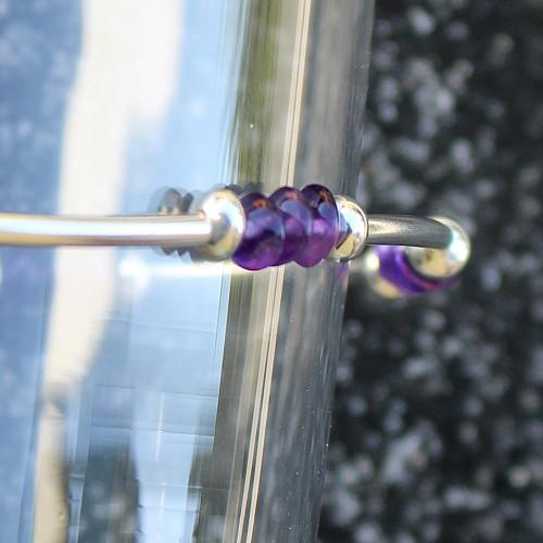 Amethyst Silberarmband Welle