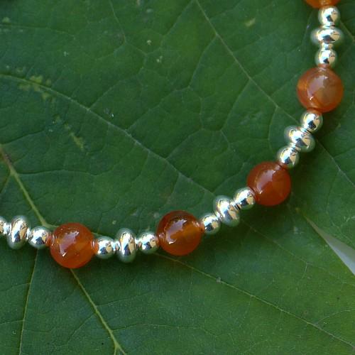 Karneol Armband Mandarina Sterling Silber
