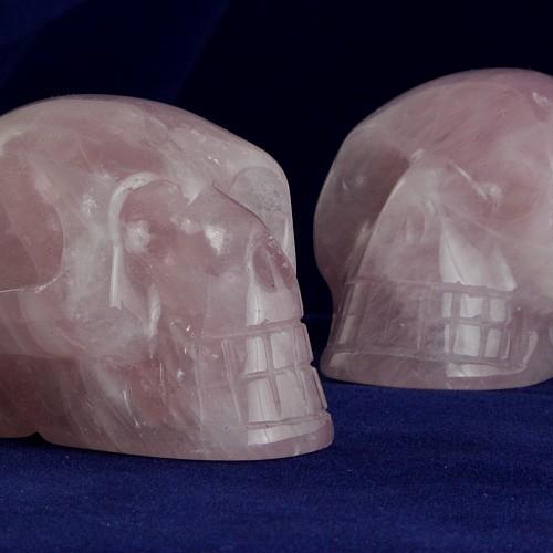 Rosenquarz Kristallschädel in A-Qualität 50mm