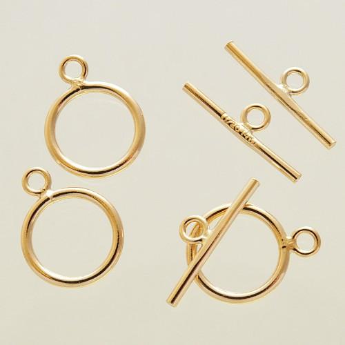 Knebelverschluss Gold Filled 14K/20 Gold T Verschluss Ring Stab