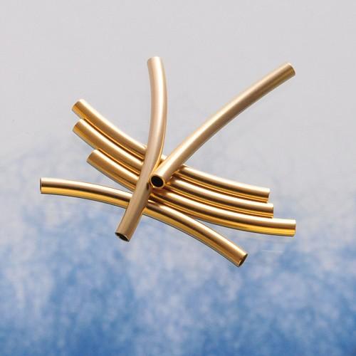 Roehrchen gebogen fein 20x1.5mm Perle Goldfilled 14K 1/20