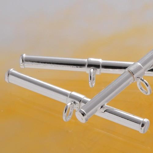 Toggle Bar Tube 24x2mm Silver 925
