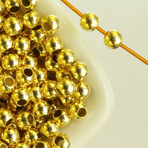 Gold Quetschperle 2,5mm 1,2mm Loch Goldfilled 1/20 14K Ham.