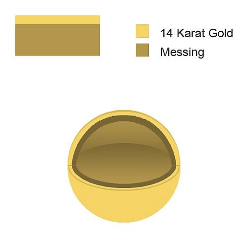 Gold Quetschperle 2mm Loch 0.9mm Goldfilled 1/20 14K Ham.