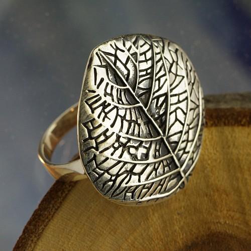 Leaf Silver Ring 925