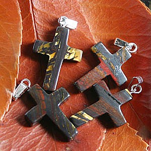 Tiger Iron Cross Pendant small