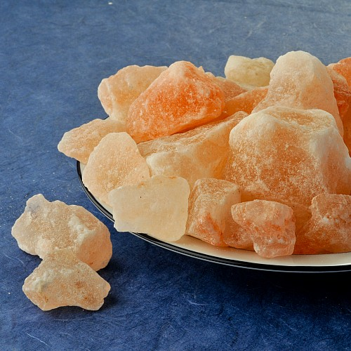 Kristallsalz Himalaya Gebiet im Leinenbeutel 1kg Granulat