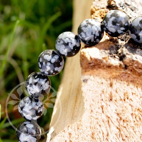 Selbstfindung Schneeflocken-Obsidian Armband