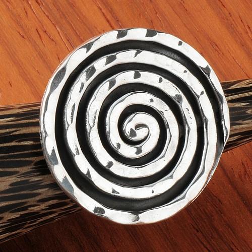 Silverring Black Spiral Sterlingsilver All Size