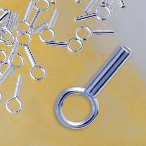 Crimp Endkappe 925 Silber 1.2mm innen Quetschverschluß Endstück 7.9mm