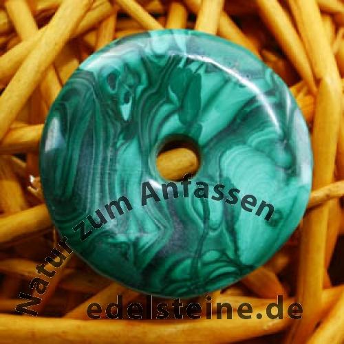 Malachit Donutanhänger 25 bis 30mm