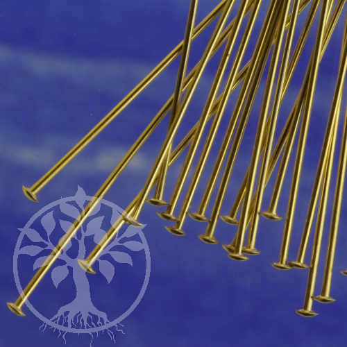 Head Pin with disc, goldfilled Headpins 50mm