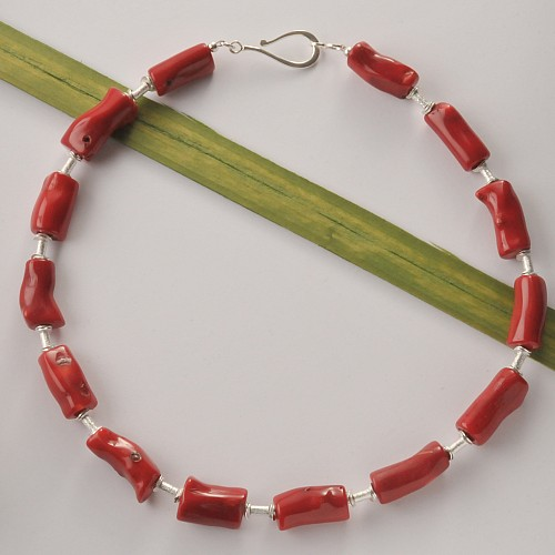Coral Beads Bambus Bough
