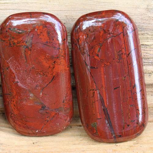 Eisen Jaspis Edelstein Anhänger Rechteck groß 60mm