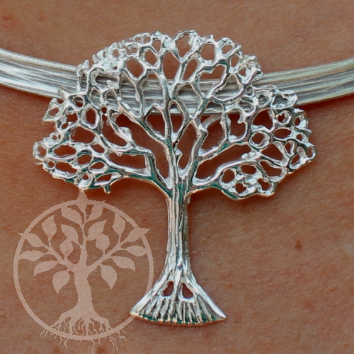 Baum Des Lebens Anhänger Bilderbuchbaum Silberbaum 925 Er Echt Silber