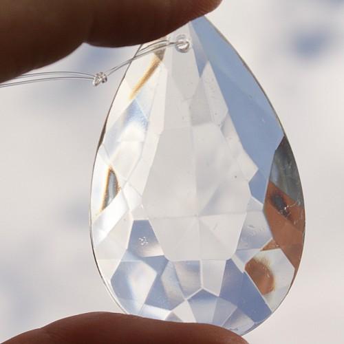 Feng Shui Kristall flacher Tropfen Mitte 50 mm