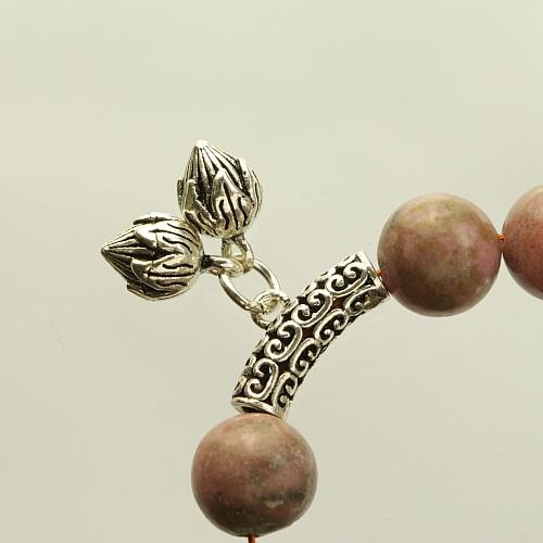 Charmperle 925 mit Blütenknospe groß