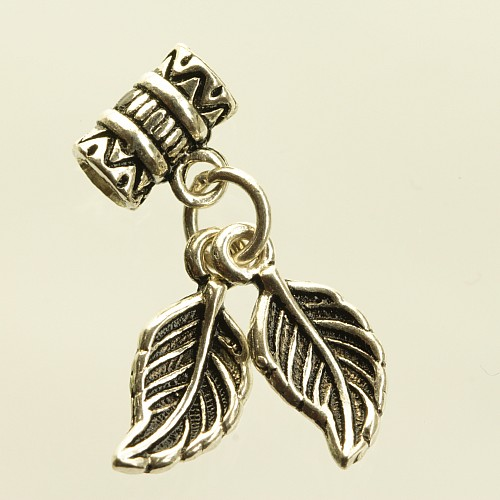 Silberperle 925 mit Blätter Charms