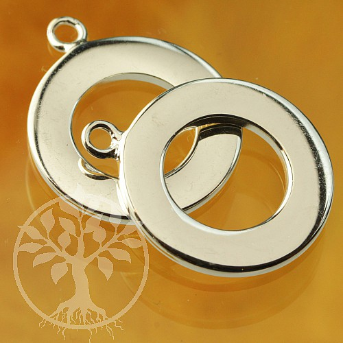 Toogle Clasp 20/25mm shallow Sterlingsilver