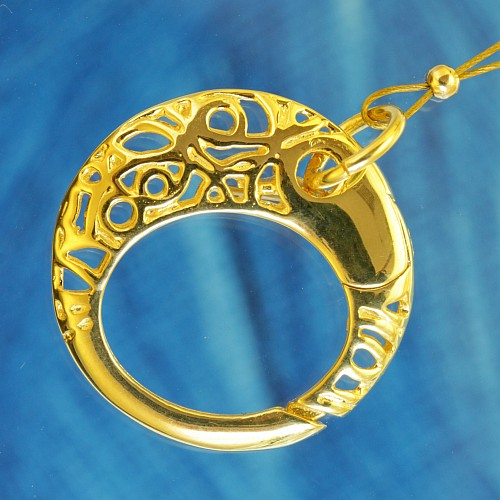 Ring Tigger Clasp 18 mm Gold plated Oriental