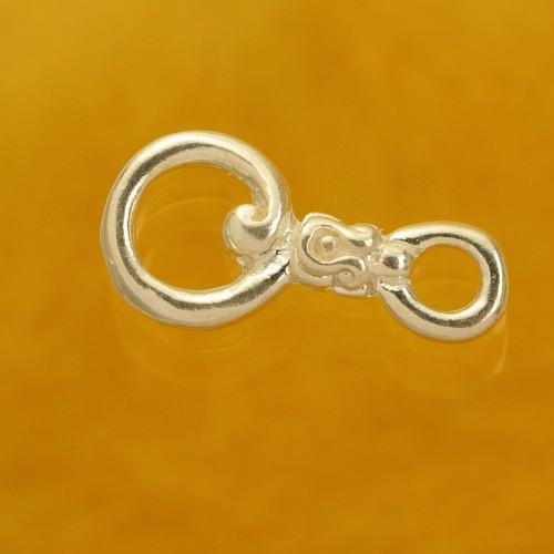 Hook Clasp Sterling Silver Swing