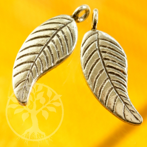 Small silver leaf swinging 925 silver finding
