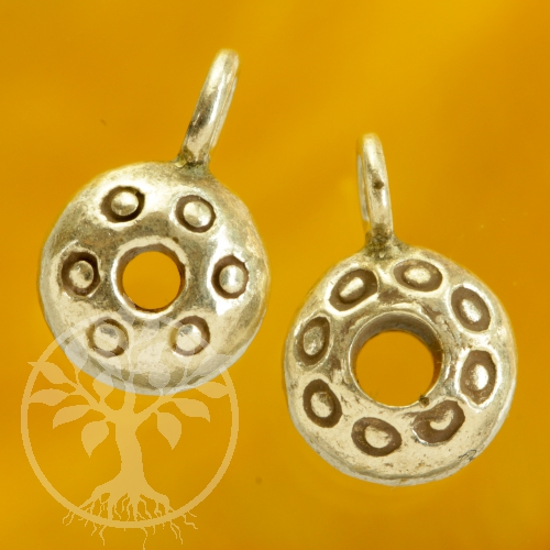 Small Sterling Silver 925 donuts pendants with sprinkles