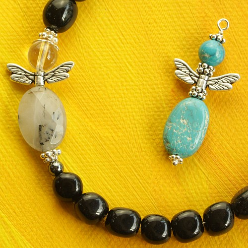 Dragonfly angel wings in Sterling Silver 925