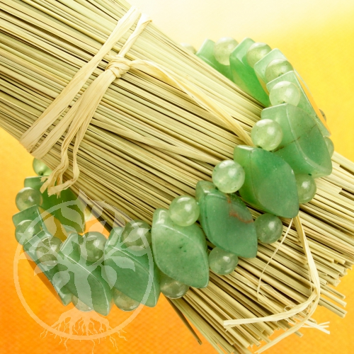 Aventurine Bracelet web with diamond gems