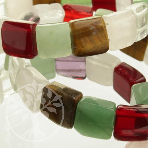 Stein-Mix Armband Quattro Variation Gemischte Edelsteine echte Steine