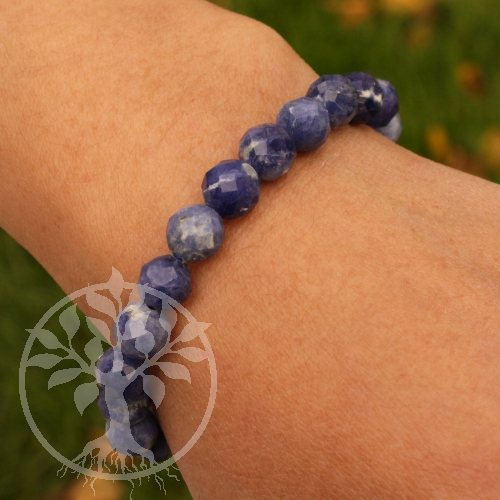 Sodalite Faceted Gemstone Bracelet 8mm