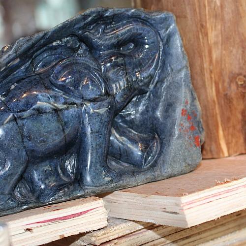 Dumortierit Elefanten Figur 1516