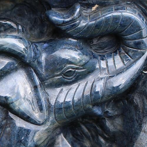 Dumortierit Elefanten Figur 1519