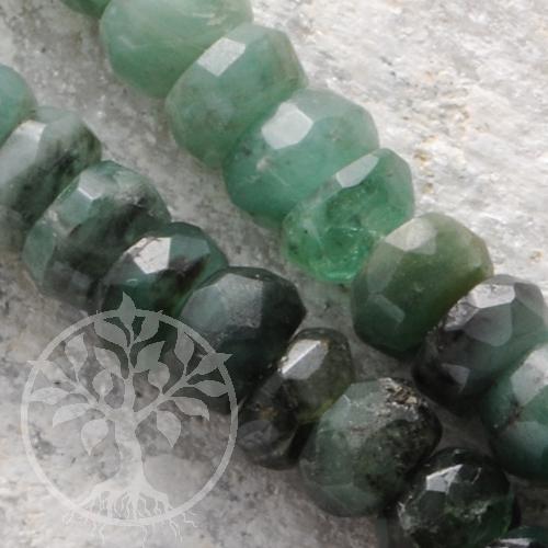 Smaragd Halskette facettierte Perlen 4-4.5mm Silberverschluss Silber 925