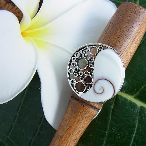 Shiva Silber925 Ring Yin Yang