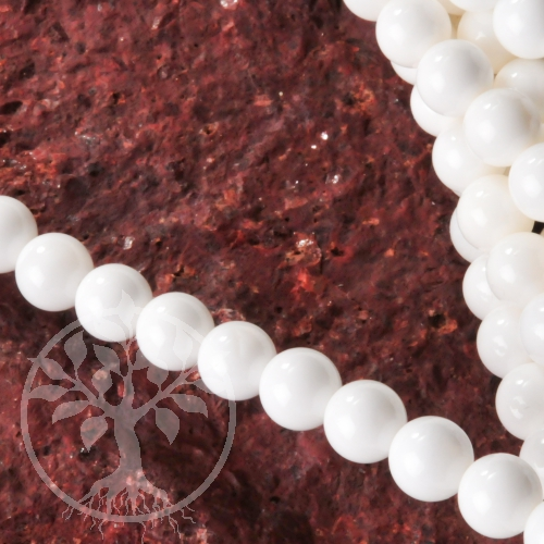 Aragonite gemstone ball beads 6-7mm