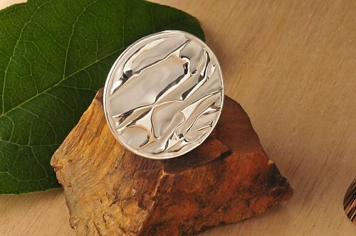 Silberring Struktur Silber 925