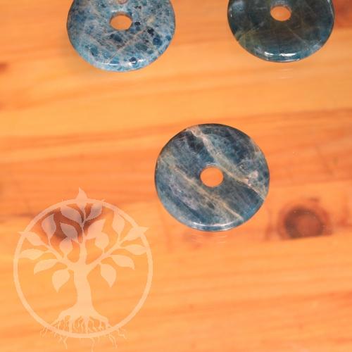 Apatit Donut Edelsteinscheibe als Anhänger 30mm