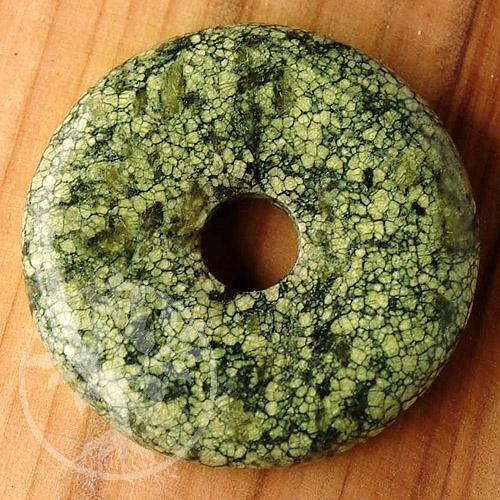 Schlangenhaut Jaspis Grün Donut A 40mm