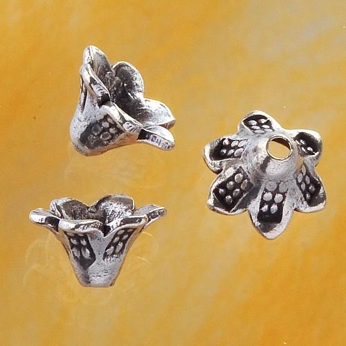 Bead Cap Silber 925 Blütenkelch Perlenkappe