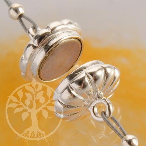 Magnetverschluss Button 7*14X10mm Silberverschluss 925