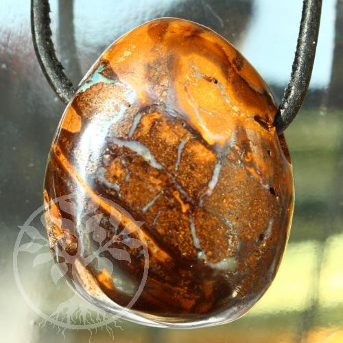 Opal Muttergestein gebohrter Anhänger 20/25mm