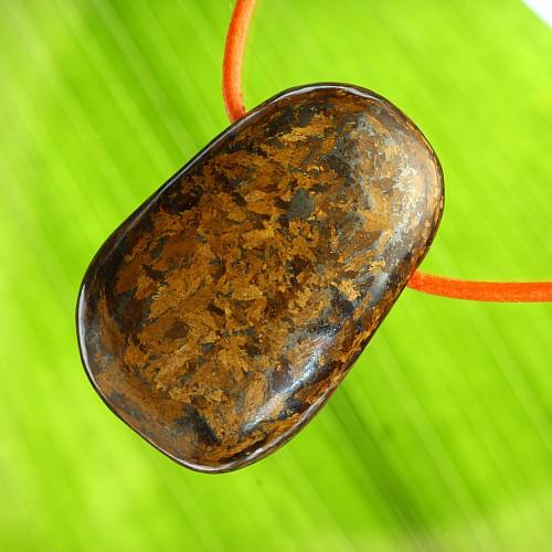 Bronzit großer Steinschmuck Anhänger A 30/40mm SAND